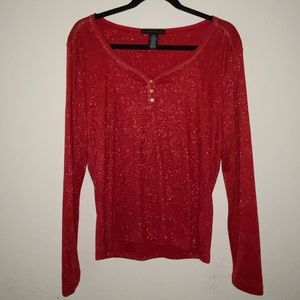 Apostrophe red blouse LG